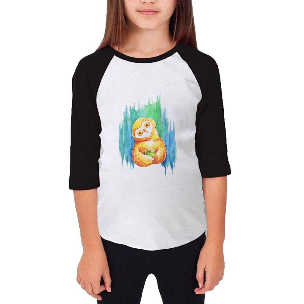 Jidfnjg Cute Printing Owl RD Kids 3//4 Sleeves Raglan T Shirts Child Youth Slim Fit Sports Uniforms