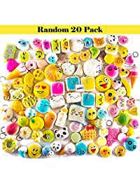 WATINC Random 20 pcs Squishies Cream Scented Lovely Toy, Slow Rising Squishies Kawaii Simulation,Jumbo Medium Mini Soft squishies Phone Straps, Decorations Toy (20P Donuts) BOBEBE Online Baby Store From New York to Miami and Los Angeles