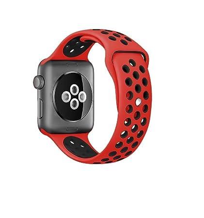 IPH9858 Correa de Silicona para Apple Watch Nike + - Rojo ...