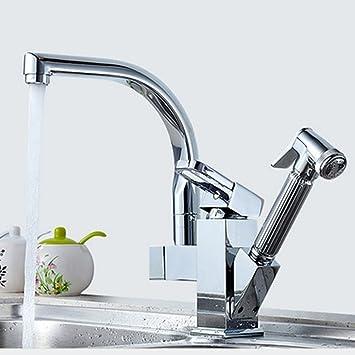 Homdox Einhebel K/üchenarmatur Wasserhahn Sp/ültischarmatur Waschtischarmatur Waschbecken Bad