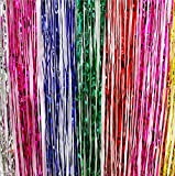 ShinyBeauty Set of 2 Foil Fringe Backdrop Curtain Rainbow, Metallic Photo Booth Tinsel Backdrop, Foil Fringe Curtain Multicolor Door Curtain Party Decoration