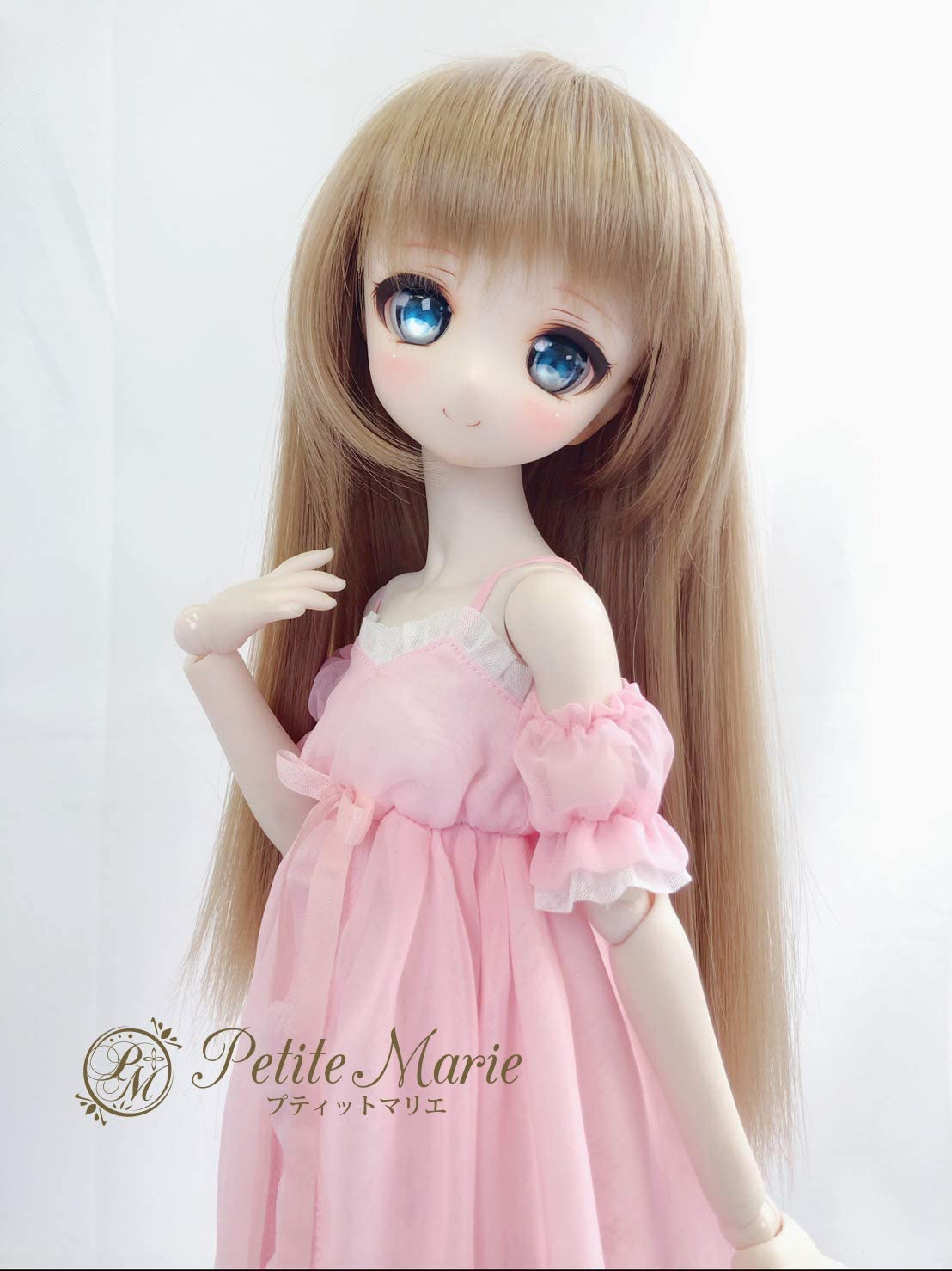 Petite Marie Japan for 1//4 Doll 16 inch 16 40cm SD DD BJD Cute Pink Princess Dress Nightgowns with Balloon Sleeve Strap Dress Clothes Only