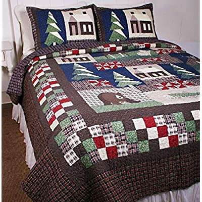 Image of American Hometex Mountain Trip King Quilt Set Home and Kitchen