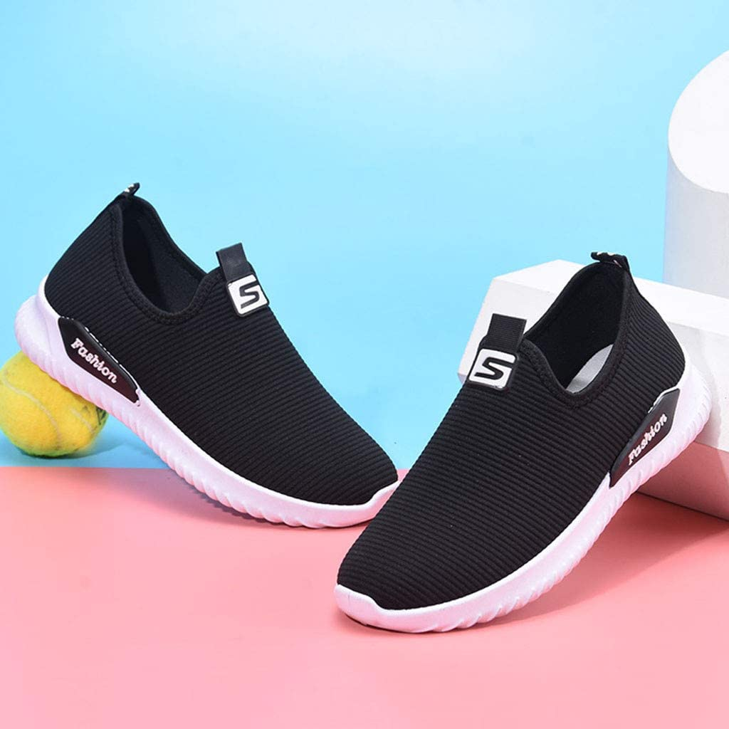 Casual Ladies Daily Shoes Miuye yuren Womens Fashion Sneaker Loafers Sneakers Flats Breathable Stretch Cloth Shoes