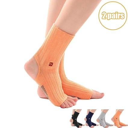 DIMPLEYA Mujer Calcetines De Yoga Corto Calentadores ...