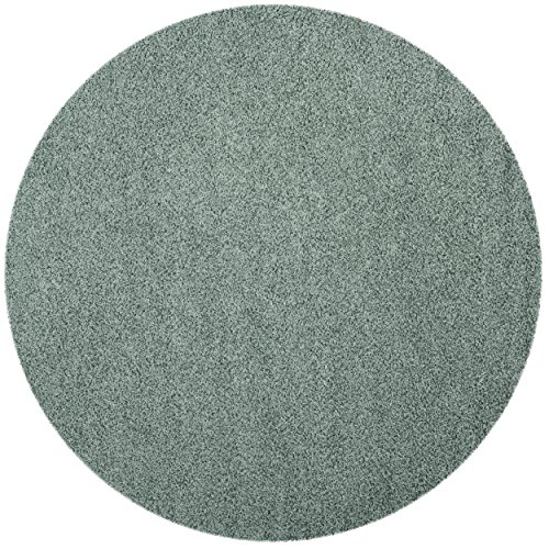Safavieh Athens Shag Collection SGAS119D Seafoam Round Area Rug (6'7
