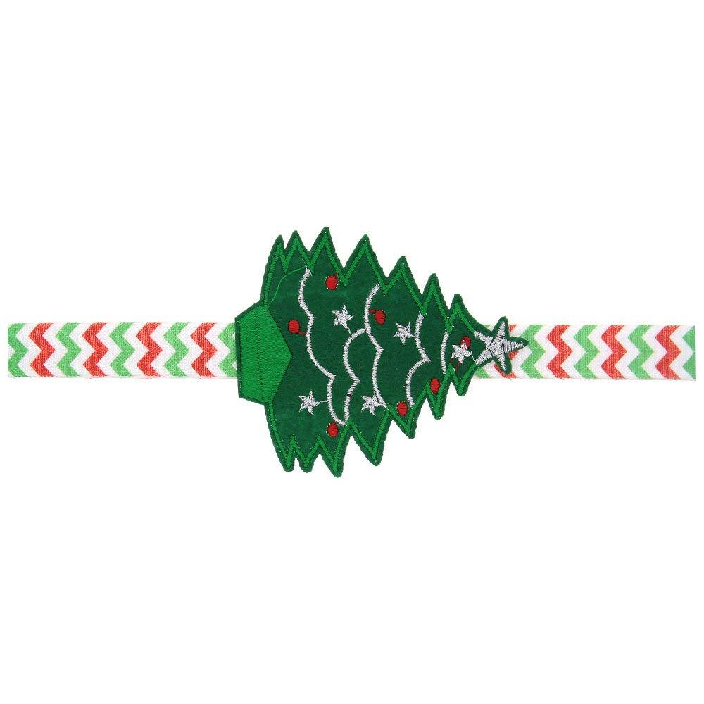 Sannysis 1 Year Old Girl Gifts Baby Girl Christmas Ornaments Headdress Elastic Hair Band