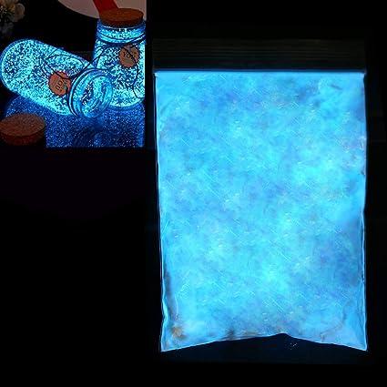 100 g de polvo fluorescente, polvo luminoso de resina epoxi Polvo de mica, polvo luminoso Polvo de color de resplandor muy brillante, pigmentos, ...