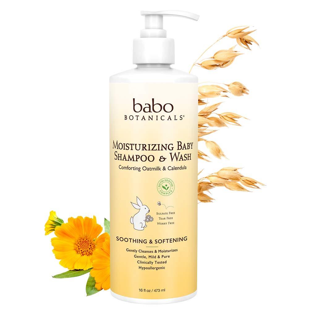 Babo Botanicals Moisturizing Baby Shampoo and Wash Oatmilk Calendula, 16 Ounce LLC BABO-8047