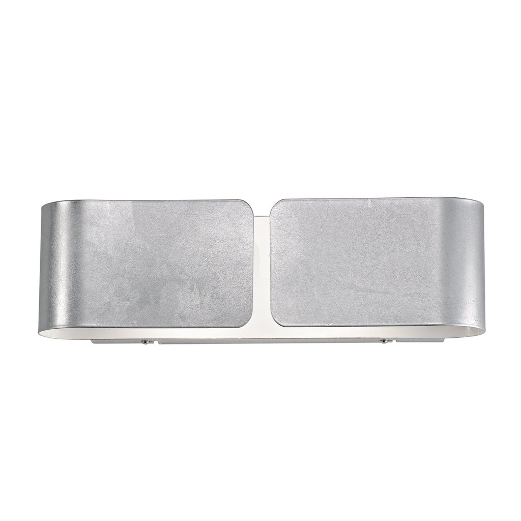 Ideal Lux CLIP AP2 AP2 AP2 small Suitable for Indoor Use E27 Silver – Wall Lighting (Surfaced, Bedroom, Silver, Metal, IP20, 2 bulb (S)) c86127