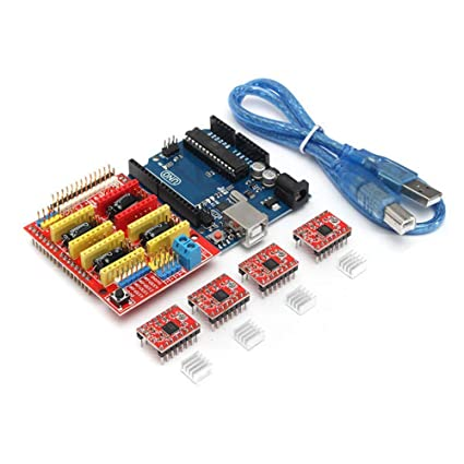 Kit de impresora 3D para Arduino CNC Shield V3+UNO R3+A4988*4 GRBL ...