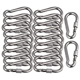 Mxfans 20x 304 Stainless Steel Quick Link Chain Carabiner Rope Cable Connector M8x 80mm