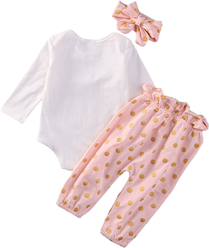 SCFEL Neugeborenen Baby Girl Kaninchen Drucken Bodys B/ügel Bekleidung Set Outfits dot Hose