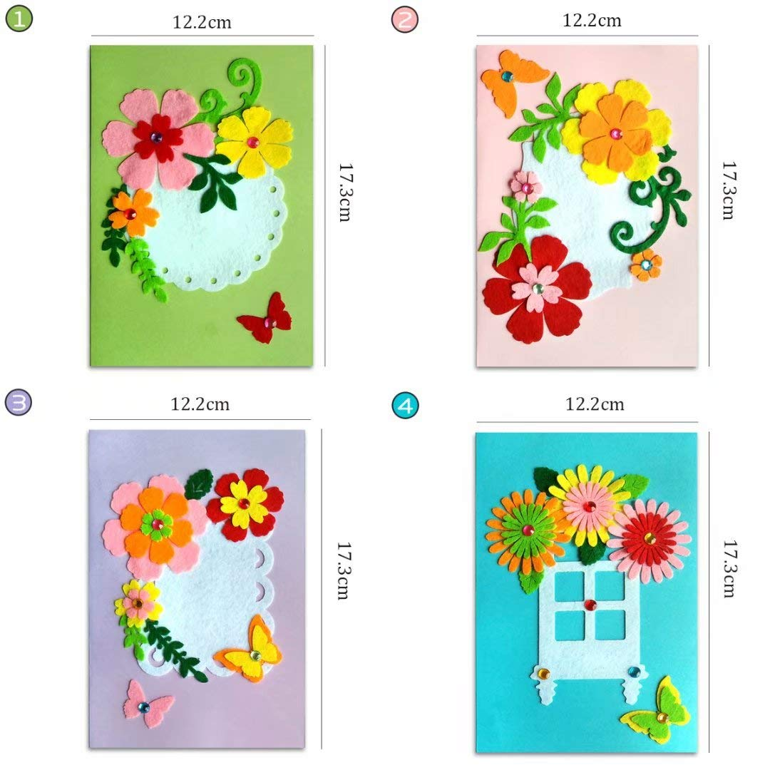8 Packages Arts Crafts Greeting Cards qiaoniuniu Christmas Santa Cards Diamond Painting for Kids 5D Rhinestone Painting by Number Kits Mosaic Making