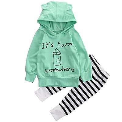 Amiley baby girl clothing sets , 1Set Baby Sweatshirt Top+Long Pants Outfits Clothes