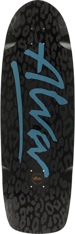 Alva Skateboards Leopard Deck 10x33 Black//Black//Blue Assembled as Complete Skateboard
