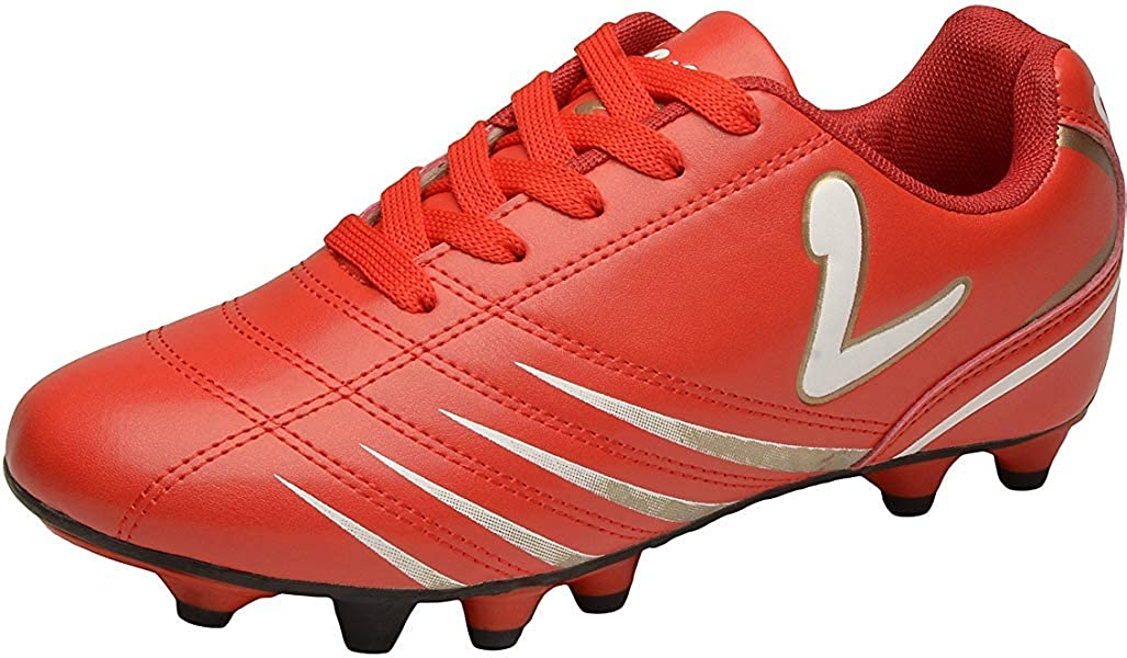 Larcia Kids Indoor Soccer Cleats Little Boys /& Girls Turf Shoes for Football Red