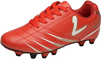 b24b69b01 Larcia Kids  Indoor Soccer Cleats - Little Boys   Girls Turf Shoes for  Football -