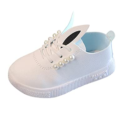 Amazon.com: Childrens Baby Shoes Leather Flat Bottom Non-Slip Girl Cute Rabbit Soft Shoes Sports and Leisure: Shoes
