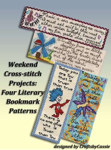 Weekend Cross stitch Projects Literary Bookmark ebook