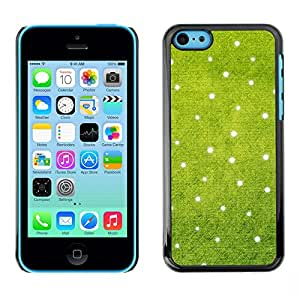 MOBMART Carcasa Funda Case Cover Armor Shell PARA Apple iPhone 5C - Light Dots On Green