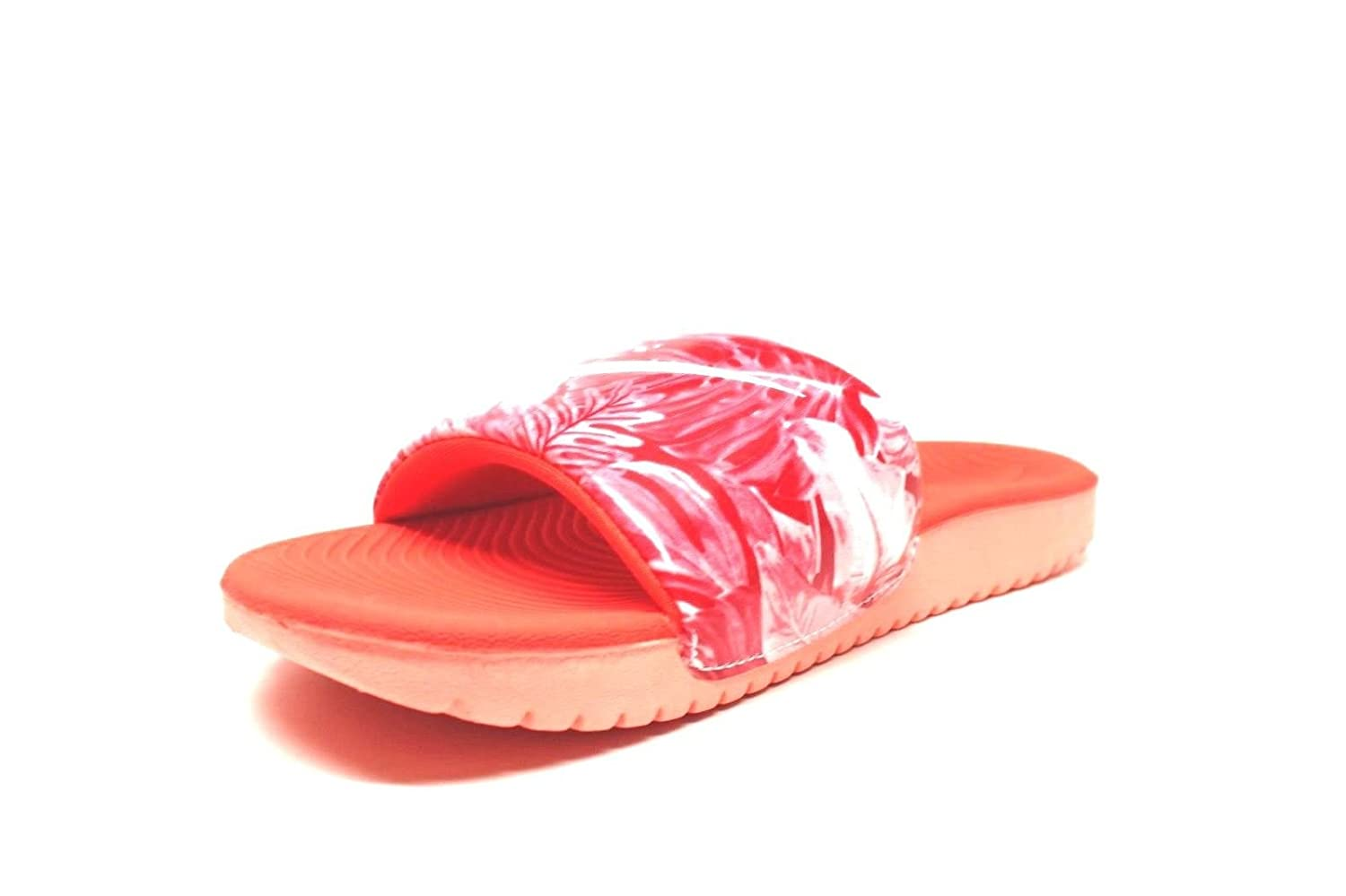 NIKE Kids Kawa Slide Print Athletic Sandal 11 M US Little Kid, Glow//White//Orange GS//PS