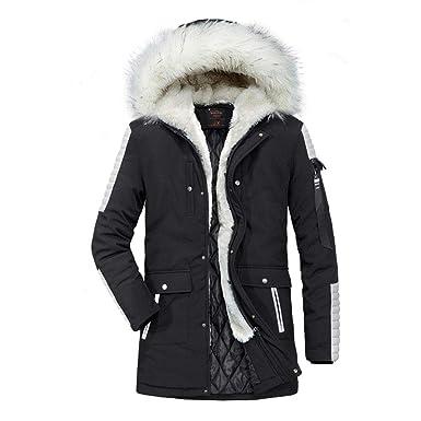 Men Coats Winter Sale Casual Men Coats with Fur Hood Camouflage Long Sleeve  Hoodie Zipper Sweater dbbd8b1d3e1