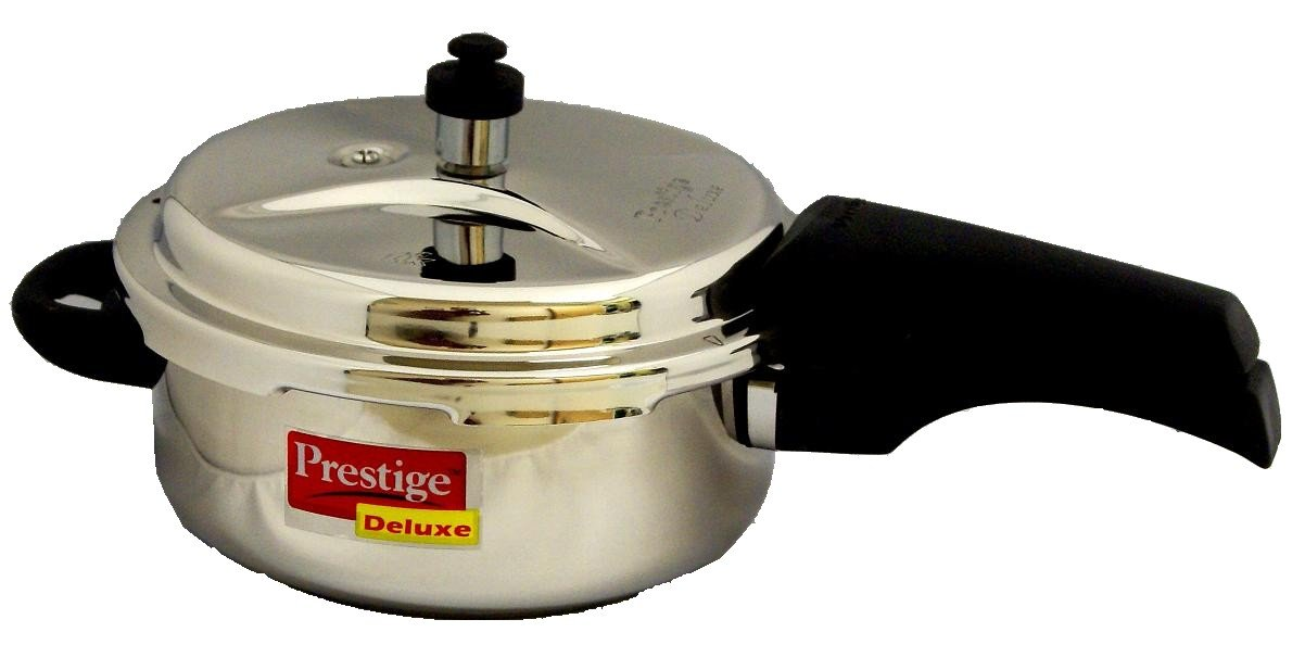 Prestige Deluxe Stainless Steel Pressure Cooker, 2 Liters A&J Distributors Inc. PDSSPC2