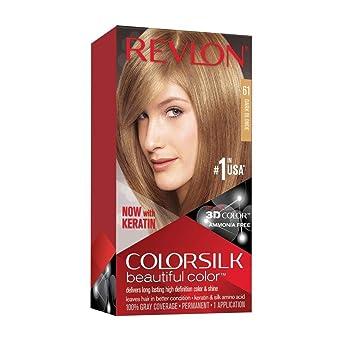 Revlon ColorSilk Tinte de Cabello Permanente Tono #61 Rubio Oscuro