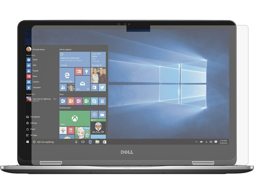 PcProfessional Screen Protector (Set of 2) for Dell Inspiron 17 7778 17.3'' Touch Screen Laptop High Clarity Anti Scratch