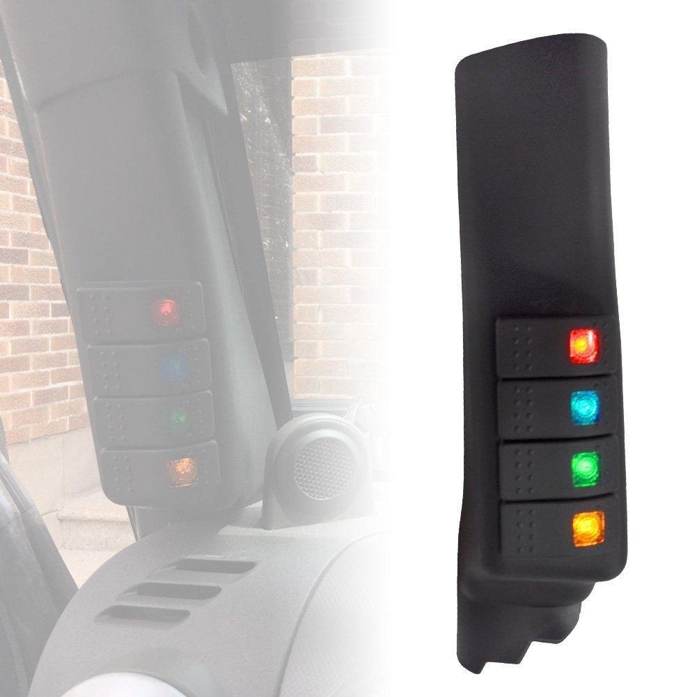 1x A Pillar Switch Panel Kit 4 LED Pod Left Hand SUPAREE