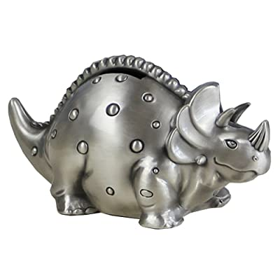 FUYU Creative Metal Cartoon Retro Dinosaur Piggy Bank Coin Bank Saving Pot Money Box: Toys & Games