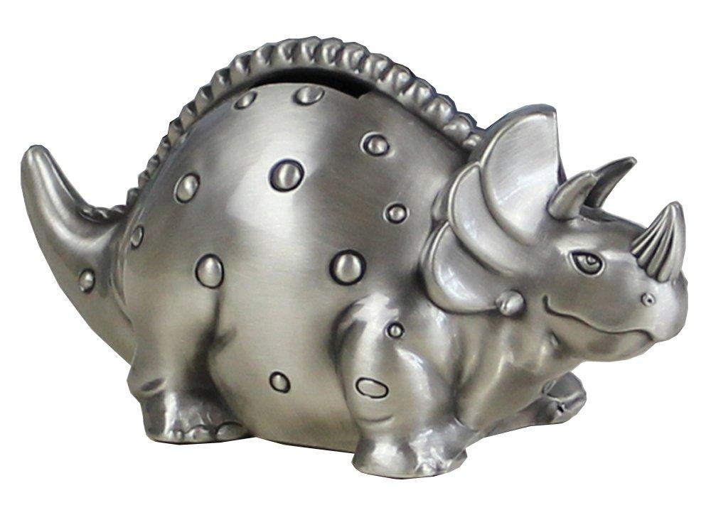 FUYU Creative Metal Cartoon Retro Dinosaur Piggy Bank Coin Bank Saving Pot Money Box