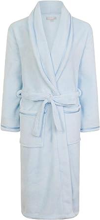 TALLA S. Undercover Lingerie Ltd Vestidos de Lana coralinos de Lujo Suaves de Las Mujeres con el Cuello clásico del mantón