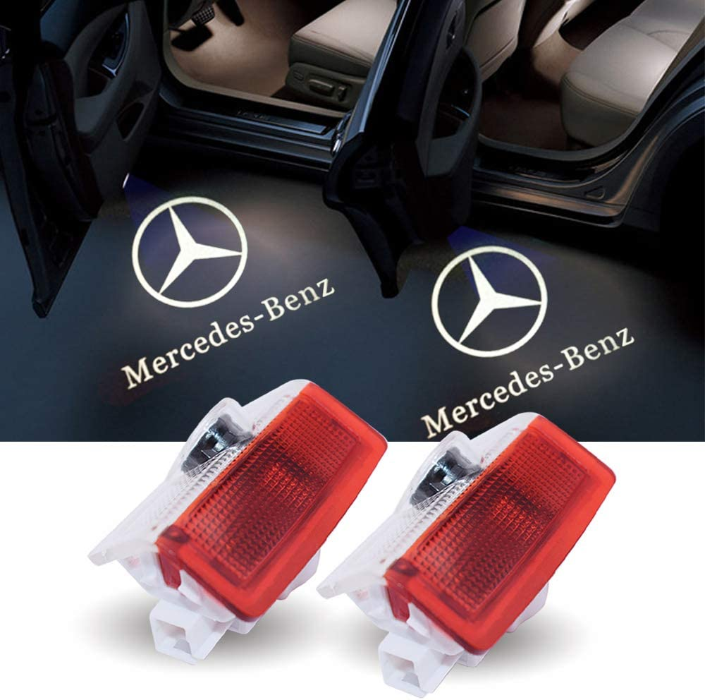 2PCS LED Courtesy Door Logo Light Ghost Shadow Laser Projector for Mercedes-Benz