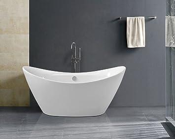 freistehende Badewanne BW-IX060: Amazon.de: Baumarkt