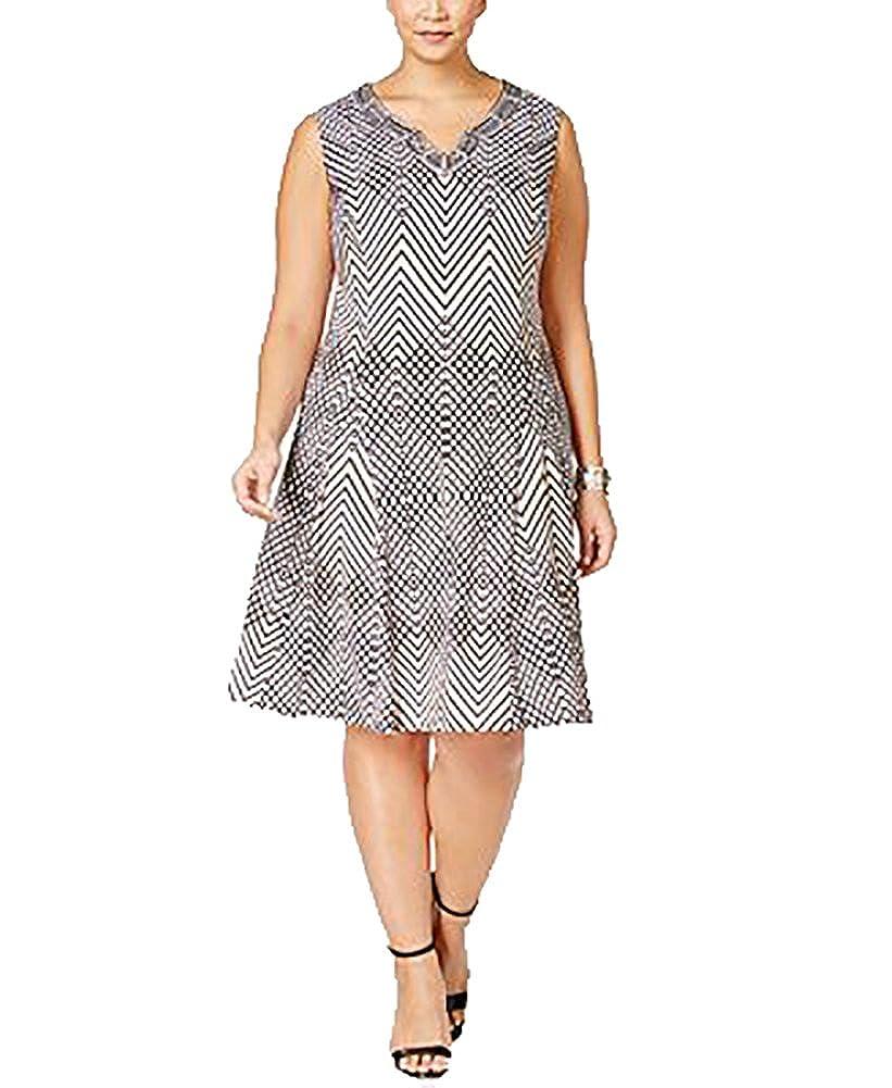 JM Collection Plus Size Embellished A-Line Dress (0X-Large ...