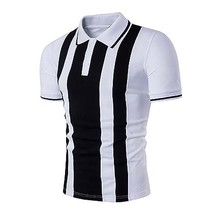 Camiseta Hombres, ❤ Manadlian Camiseta para hombres Delgado Camisetas deportivas Manga corta Camisa polo