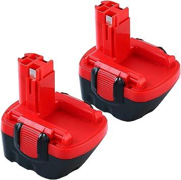 Imagen de2X 12V 3000mAh Ni-MH Batería reemplazo para Bosch BAT043 BAT045 BAT046 BAT049 BAT139 226123360 2607335274 2607335709 12V GSB 12VE-2 PSR Reoben