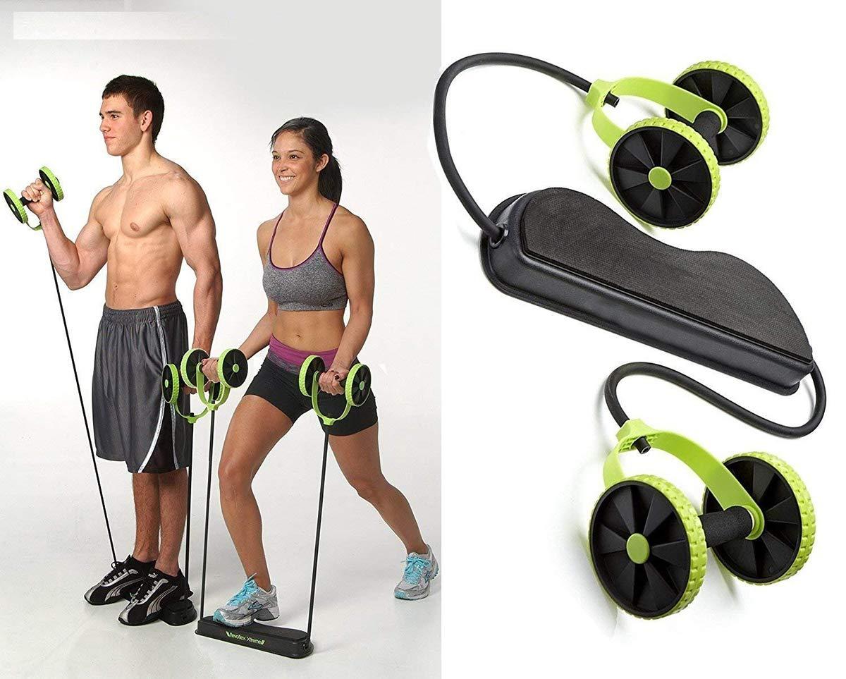 Uteruik Hombres Mujer Fitness Entrenador Abdominal ABS Kit de Entrenamiento Bandas de Resistencia Ejercicio Multifunción Crossfit Ejercicio