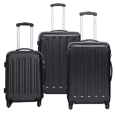 Amazon.com | Goplus® Globalway 3 Pcs Luggage Travel Set Bag Abs pc ...