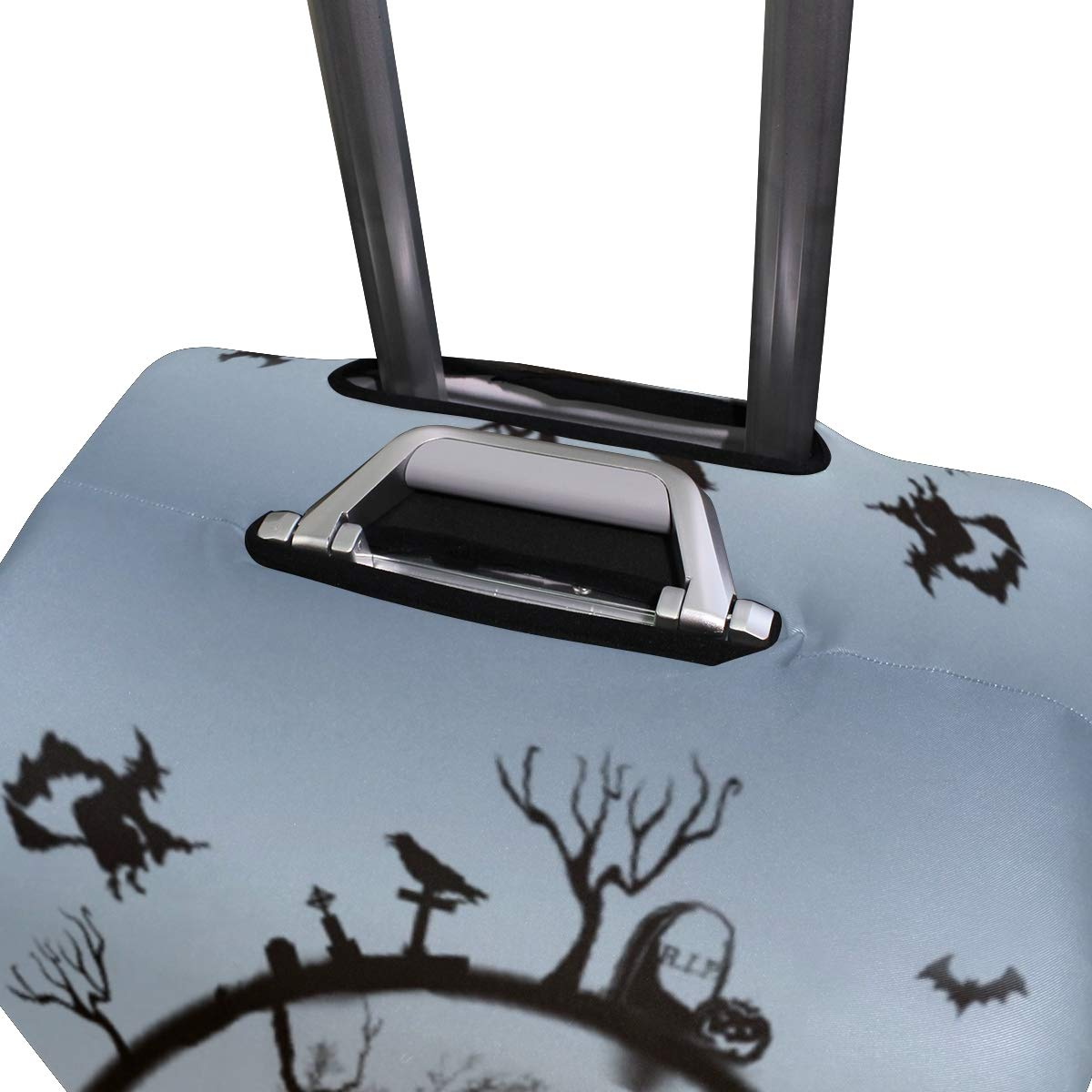 Travel Luggage Cover Halloween The Witch Cat Moon Owl Pumpkin Bats Suitcase Protector Fits 26-28 Inch Washable Baggage Covers