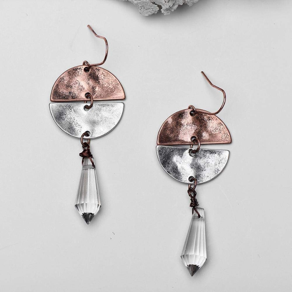 Ludage Earrings, Alloy Earrings, Europe and The United States, Double Color Earrings, Water Pendant Earrings