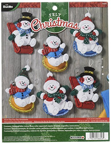 Bucilla Felt Applique Ornament Kits in Assorted Seasonal Styles