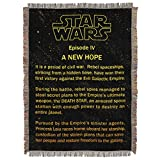 Northwest Star Wars A New Hope Opening Crawl Tapestry Throw Blanket 48'' x 60''