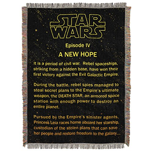 Northwest Star Wars A New Hope Opening Crawl Tapestry Throw Blanket 48
