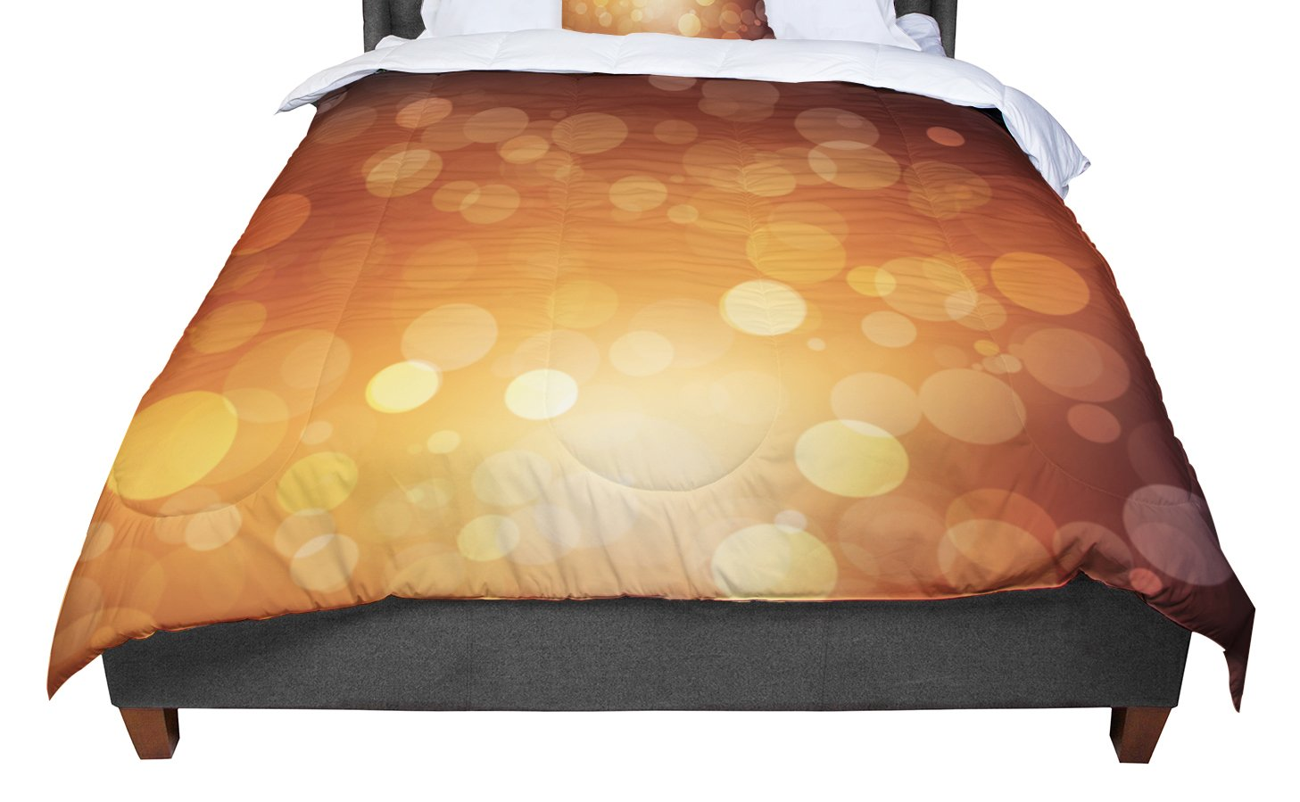 68 X 88 KESS InHouse KESS Original Sunrise Orange Bokeh Twin Comforter