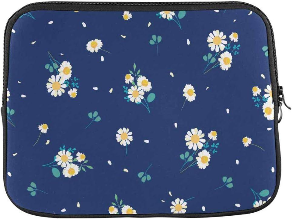 Daisy Garden Zipper Laptop Sleeve Bag Daisy Garden Carring Case Cover Protector Handbag 17 Inch for Notebook