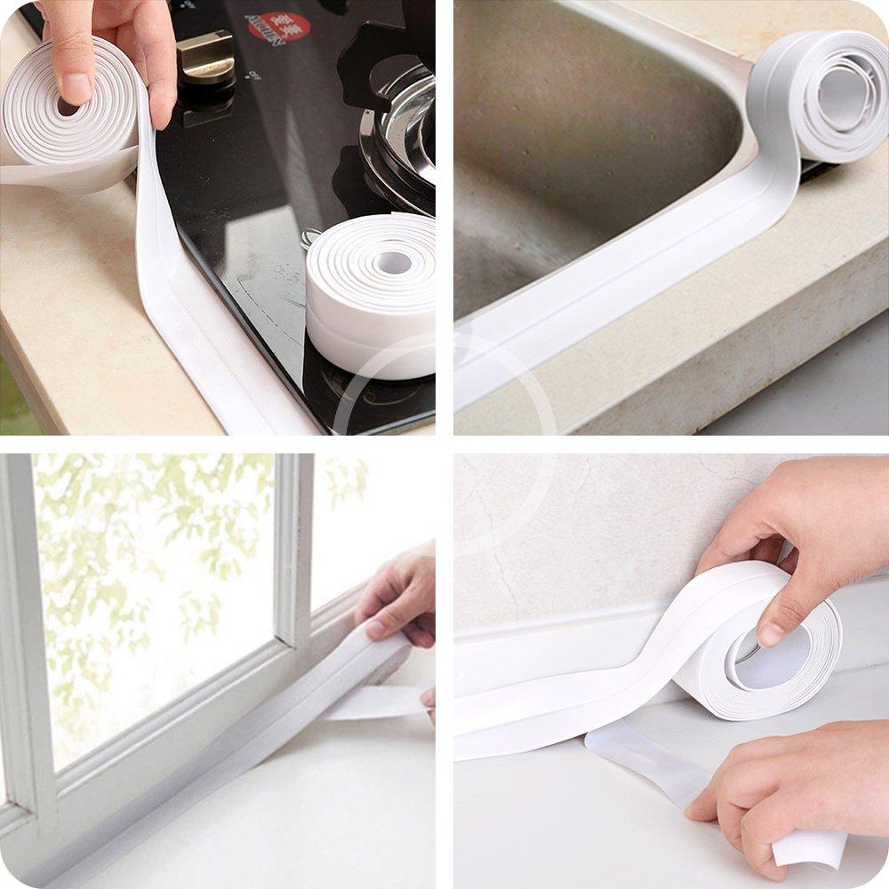 Bathtub Caulk Strip PE Self Adhesive Tub and Wall Sealing Tape Caulk ...