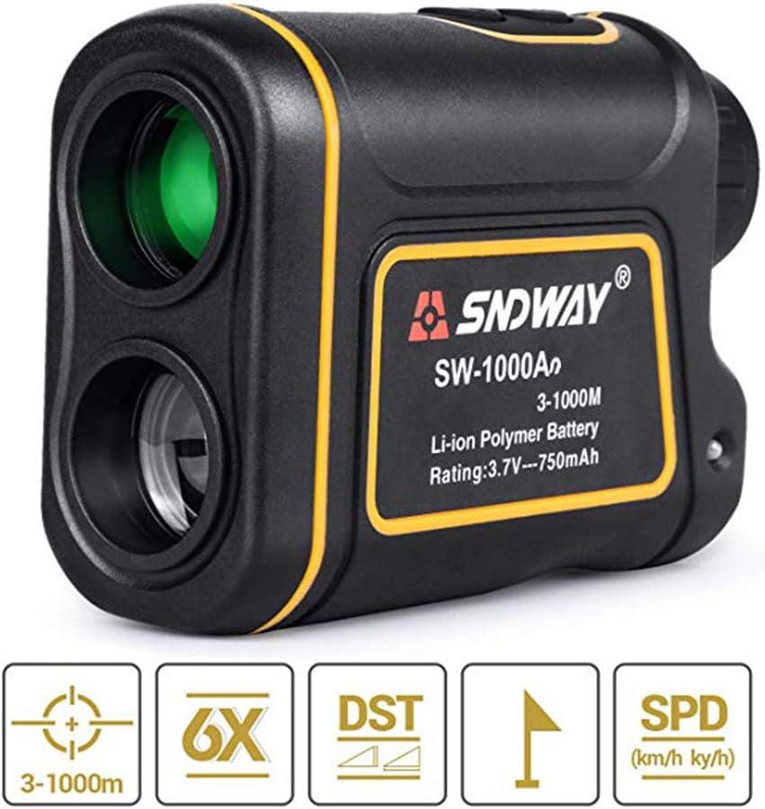 SMAA 1100Yards 1000m láser telémetro de Caza, para Golf Deportes de la Fauna Forestal, 6X magnificación Distancia Velocidad Ángulo de Lectura de medición de Carga USB